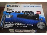 Swann security recording kit with internet and smart phone viewing