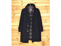 Burberry Navy Blue Wool Speciality Duffle mens coat size 38 R