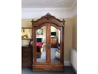 Large Antique Victorian wardrobe