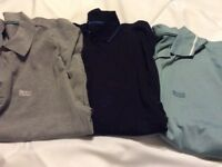 3 xxl men's boss polo shirts