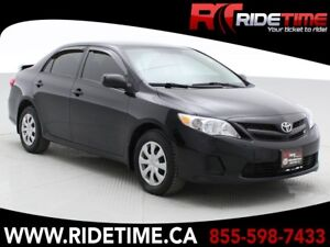 2012 Toyota Corolla CE - Automatic, Rear Spoiler, LOW KMs