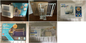 Baby items - gates, monitor, bed rails