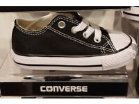 Baby size 2 converse black. Never worn.