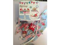 Gift box of homemade fabric items cath Kidston fabric