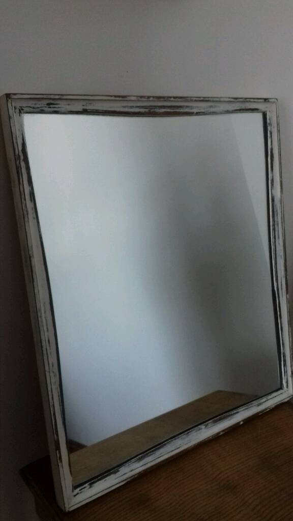Solid Wooden Mirrorin Burry Port, CarmarthenshireGumtree - Painted in Rust Oleum Antique White, finished in Rust Oleum Clear Finishing Wax