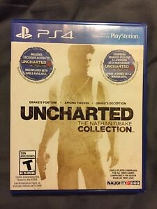 Uncharted collection PS4 game