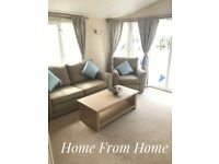 static caravan on beautiful seafront 12 month park, top of the range at a discounted bargain price