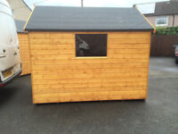 BRAND NEW JUST BUILT WOODEN SHED APPEX ROOF AND WINDOW 8 X 6