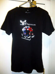 Moose Knuckles Black T-Shirt, size M New!