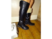 Super Mode Womens Black Boots Size UK 5