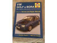 Haynes Service & Repair VW Golf & Bora 2001 - 2003 Petrol & Diesel Excellent Condition