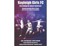 Rayleigh Girls FC are looking for new players at all abilities
