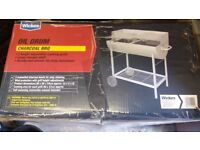BRAND NEW Wickes Oil Drum Charcoal BBQ