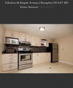 2 bedroom Basement apartment with Separate entrance and laundry
