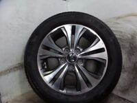 2016 KIA VENGA 16 inch alloy wheel with tyre 205/55/16