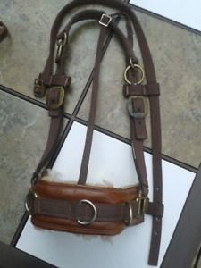 FULL - Leather/ Nylon Horse TRAINING HORSE HALTER