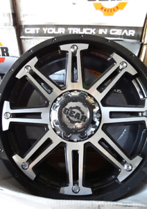 "*** 4 ALL NEW  20"" 5×139.7/5×150 GEAR MECHANIC WHEELS ***"