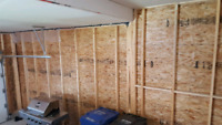 Insulation, Vapour Barrier and Drywall Work for Garage