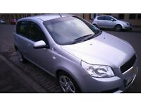BARGAIN, 2011 AVEO, LOW MILEAGE, 42000,11MONTHS MOT,5DR HATCHBACK SILVER, VERY GOOD CONDITION