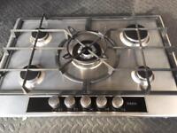 Aeg HG755440SM 5 burner gas hob wok burner