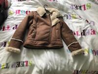 Brow and fur jacket size 10-11