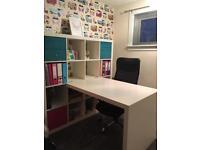 Ikea Shelves and desk