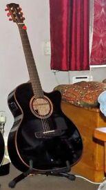 Merida DG15-Black Electro-Acoustic Guitar Inc Bag