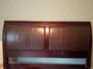 cherry frame and leather KING headboard