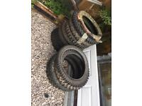 Motor cross tyres 13 of them New and used £60 the lot