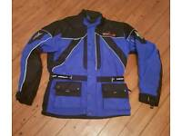 Wolf racing waterproof textile motorcycle jacket 2xl 44chest