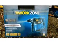 Power drill and chisel for doing heavy duty work