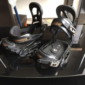 Burton Black and Gold Channel Bindings Med
