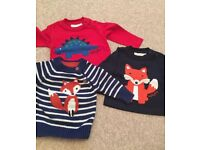 Joules and Jojo sweaters 0-6 months x 3