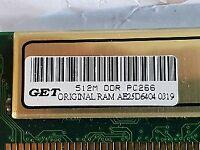 GET 512 MB DDR MEMORY