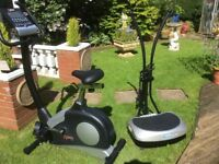 DKN ELECTRONIC EXERCISE BIKE AND VIBROPLATE
