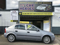 2002 VAUXHALL ASTRA 1.6i CLUB 5 DOOR * 12 MONTH ( AA ) WARRANTY INCLUDED