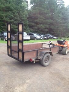 4 x 8 trailer with fold down ramp
