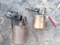2 BRASS AND STEEL BLOWLAMPS IN WORKING CONDITION