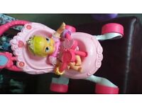 FISHER PRICE PRINCESS MUSICAL BABY WALKER WITH DOLL