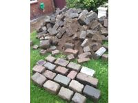 Granite Cobbles / Setts various colours and sizes