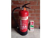 EXCELSIUS FOAM 6LTR FIRE EXTINGUISHER - NEVER USED