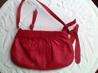 Top Shop red soft leather little bag