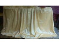 "Beautiful gold lined pencil pleated hand stitched curtains 50""/127cms x 105""/267cms + pelmet cover."