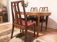 Nathan dinning table and 4 chairs