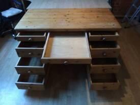 Huge solid wood desk