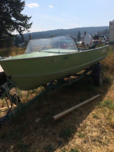 14 foot Lund Boat Motor and trailer