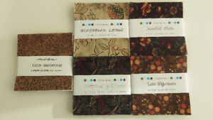 "5 Different ""Moda"" Fabric Charm Packs (Blend well)"