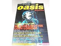 OASIS Loch Lomand 1996 Gig Poster, HUGE Original Advertising Poster, Never Displayed So EXCELLENT