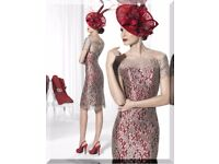 LOVELY WINE/RED MOTHER OF THE BRIDE/GROOM OUTFIT FOR SALE BRAND NEW WITH TAG UK SIZE 10