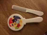 Winnie the pooh baby brush and comb set never used